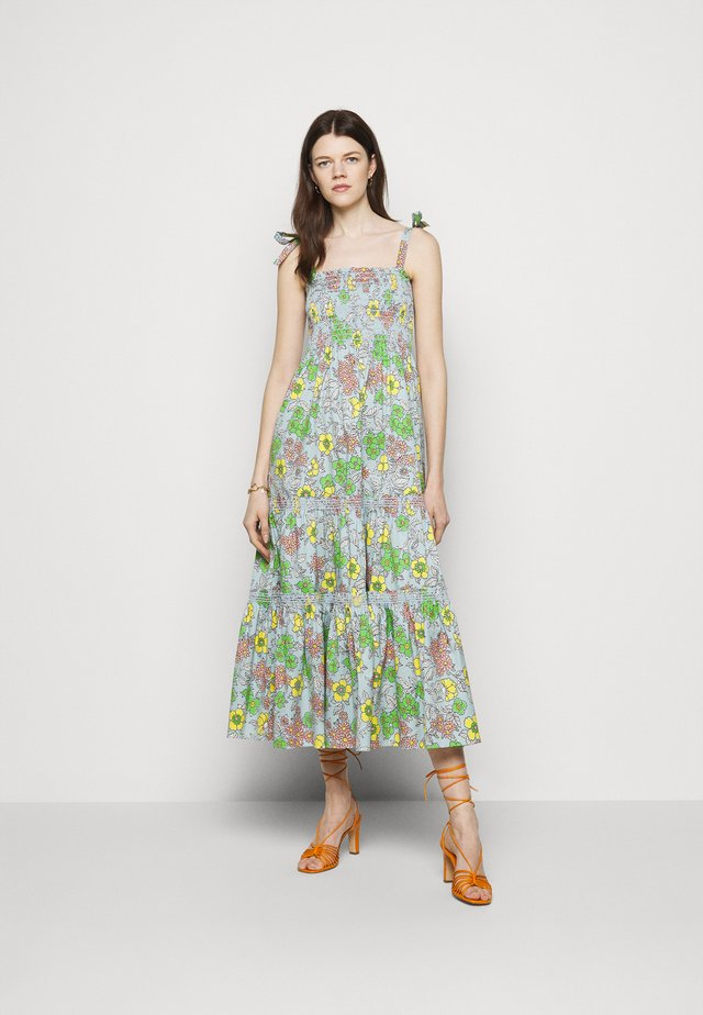 PRINTED TIE SHOULDER DRESS - Korte jurk - wallpaper