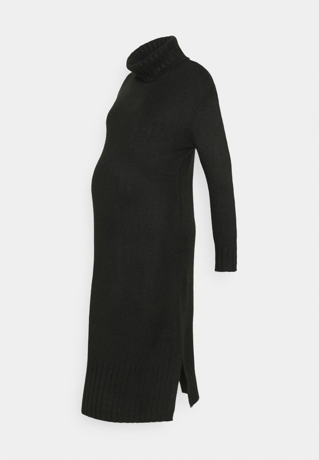 ROLL NECK DRESS - Strikket kjole - black