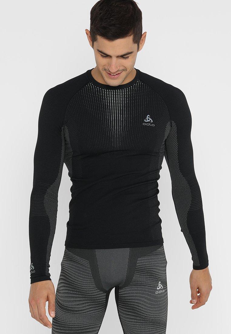 ODLO - CREW NECK PERFORMANCE WARM - Undershirt - black/odlo concrete grey