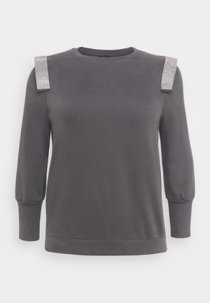 PLUSDIAMONTE STRIP PUFF - Sweatshirts - charcoal