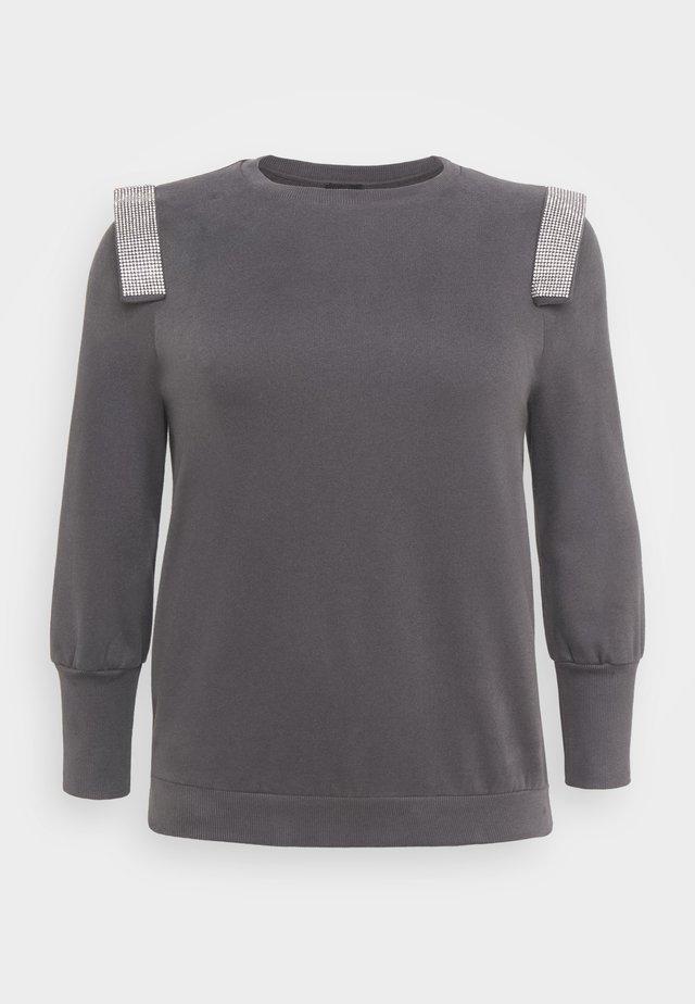 PLUSDIAMONTE STRIP PUFF - Sweatshirt - charcoal