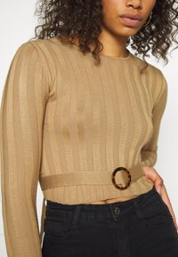 Missguided Tall - SHELL LONG SLEEVE - Svetr - brown - 4