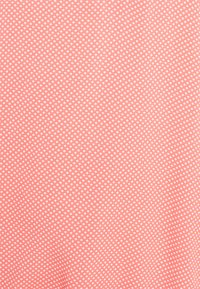 TOM TAILOR - WITH FEMININE NECKLINE - Blouse - peach/white - 2