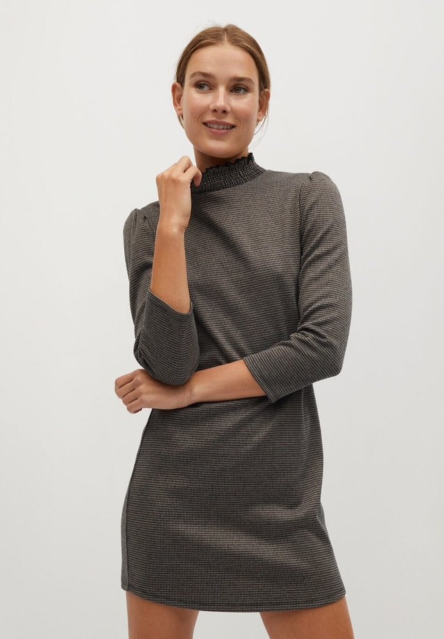 Vestito di maglina - brązowy