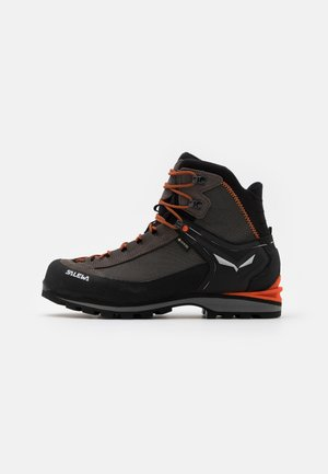 MS CROW GTX - Chaussures de montagne - wallnut/fluo orange