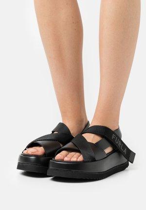REAL FUSBET - Platform sandals - nero