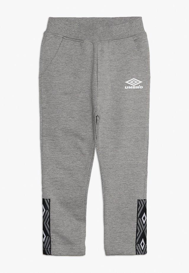 FOUNDATION SLIM FIT TAPED PANT BOYS - Teplákové kalhoty - grey marl/white