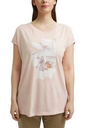 CURVY PRINT - Print T-shirt - nude