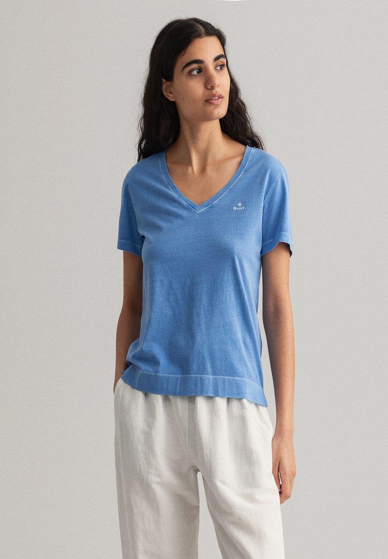 GANT - SUNFADED - Print T-shirt - pacific blue