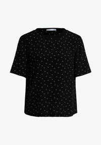 Oui - Print T-shirt - black offwhite - 5