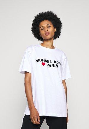 PARIS HEART - T-shirt print - white