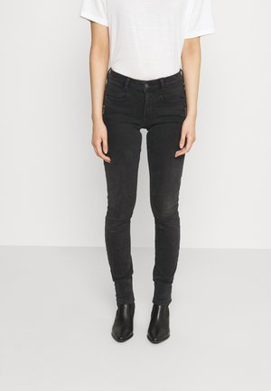 JONA - Jeans Skinny Fit - used dark stone black denim