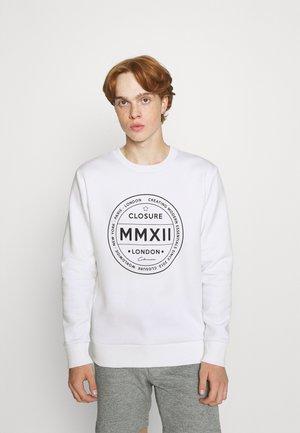 LOGO EMBLEM CREWNECK - Sweatshirt - white
