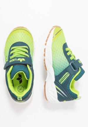 BARNEY VS - Sneakersy niskie - lemon/petrol