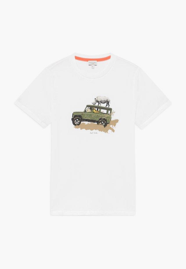 ADONE - T-shirt print - white