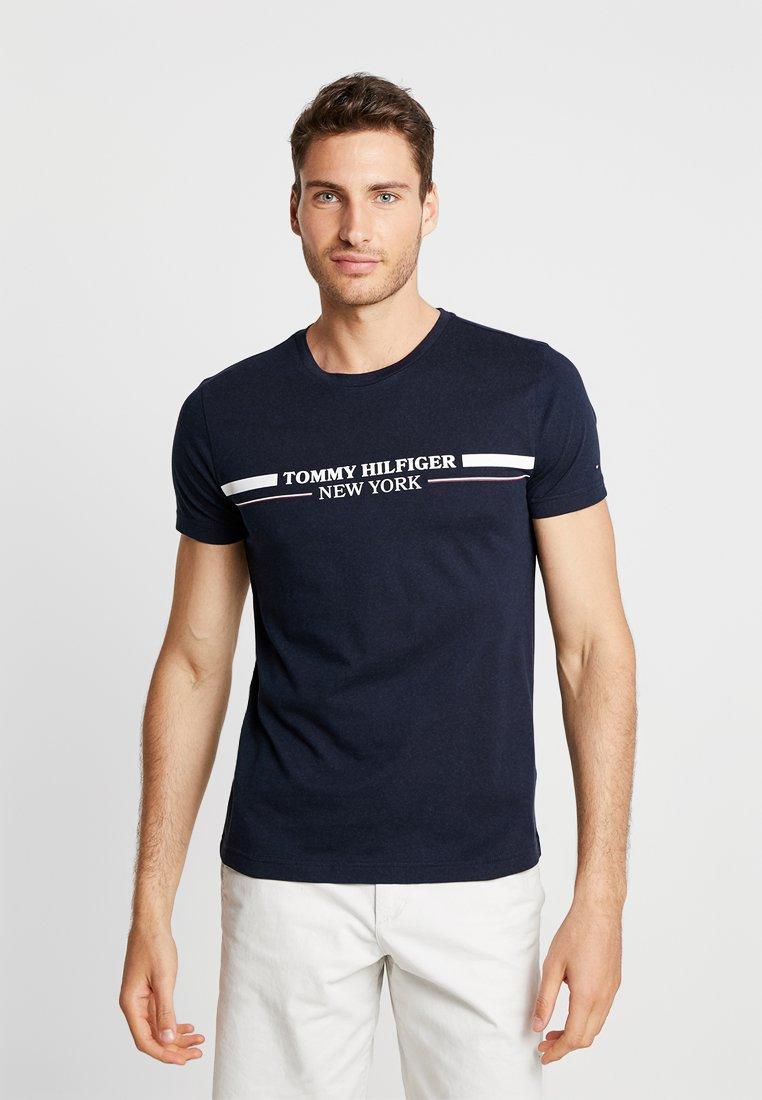 Tommy Hilfiger - YACHT STRIPE TEE - Print T-shirt - blue