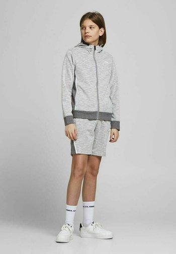 Zip-up sweatshirt - white melange