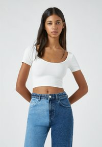 PULL&BEAR - Basic T-shirt - white - 0
