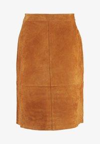 Vila - A-snit nederdel/ A-formede nederdele - dusty camel - 3