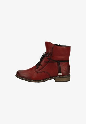 RIEKER - Lace-up ankle boots - Wine red