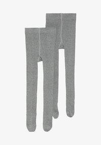 s.Oliver - ONLINE JUNIOR BASIC UNISEX 2 PACK - Tights - grey - 2