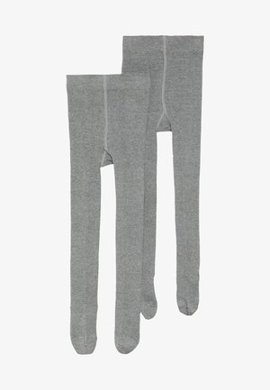 ONLINE JUNIOR BASIC UNISEX 2 PACK - Punčocháče - grey
