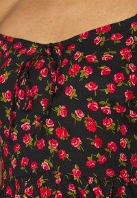 MISS SELFRIDGE Blue over Black Lace Crop TopSALEWas £29