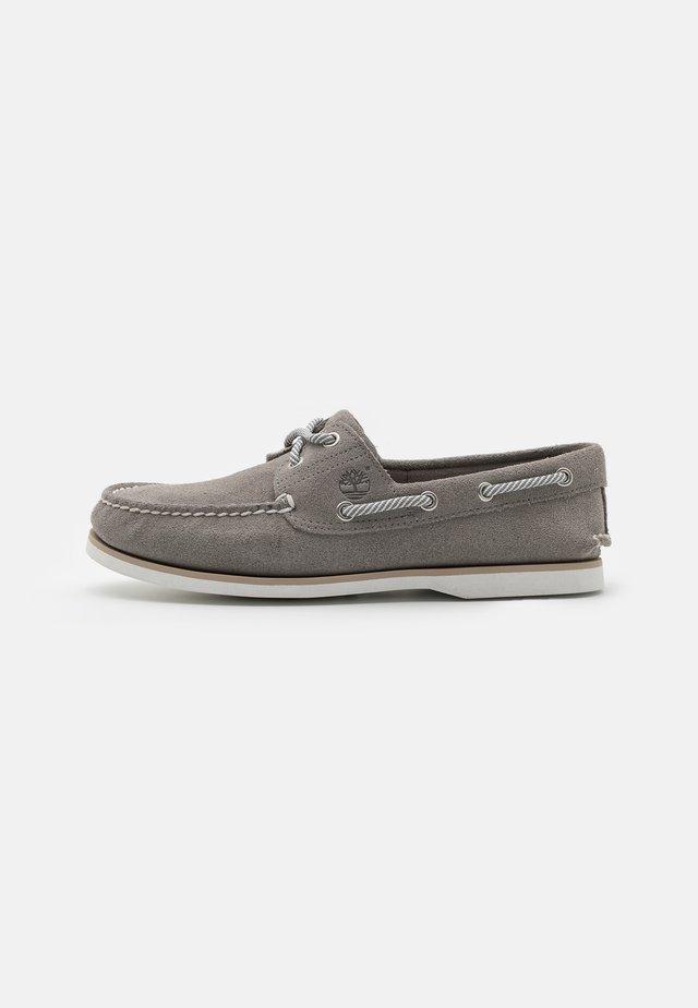 CLASSIC BOAT 2 EYE - Boat shoes - medium grey