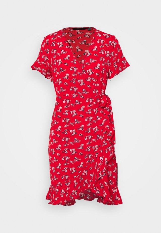 VMSAGA WRAP DRESS - Korte jurk - goji berry