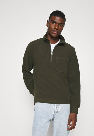 Fleece jumper - khaki green dark