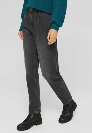 BALLOON  HIGH RISE - Straight leg jeans - grey denim