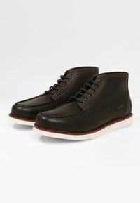 Timberland - NEWMARKET  - Lace-up ankle boots - dk green full grain - 1
