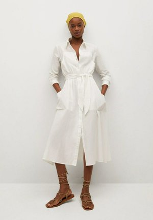 Shirt dress - wit