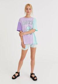PULL&BEAR - Print T-shirt - lilac - 1