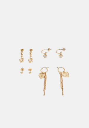 PCCABY EARRINGS 4 PACK - Náušnice - gold-coloured