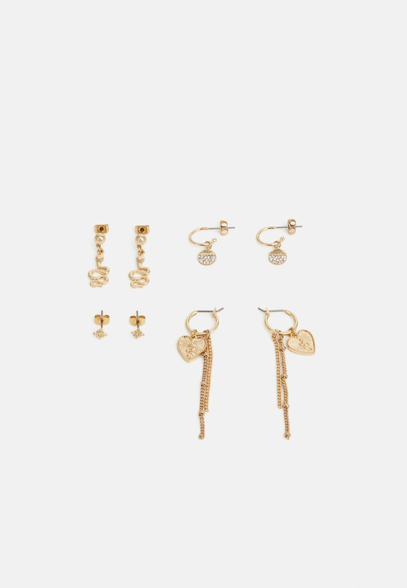 Pieces - PCCABY EARRINGS 4 PACK - Øredobber - gold-coloured