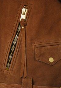AllSaints - LUNA BIKER - Leather jacket - tan brown - 3