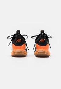 Nike Sportswear - AIR MAX 270 HU UNISEX - Trainers - black/metallic silver/laser orange - 2