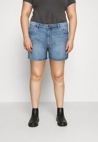 Cotton On Curve - MOM HIGH WAIST - Jeansshorts - jetty blue - 0