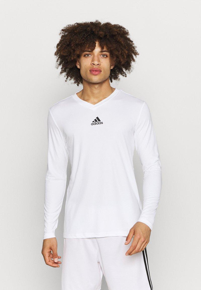 adidas Performance - TEAM BASE TEE - Long sleeved top - white
