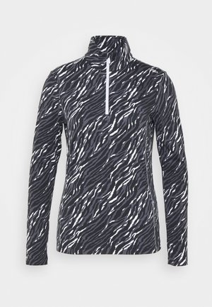 WOMAN PRINTED - Fleecepullover - graffite/nero