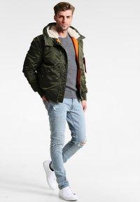 Pier One - Stickad tröja - mottled grey - 1