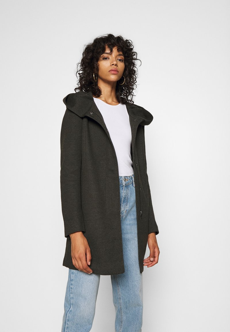 ONLY - ONLSEDONA - Krátký kabát - rosin melange