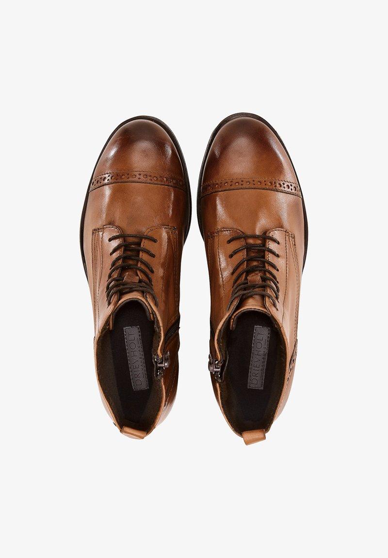 Drievholt - Lace-up ankle boots - mittelbraun