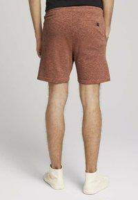 TOM TAILOR DENIM - Shorts - orange lobster black melange - 2
