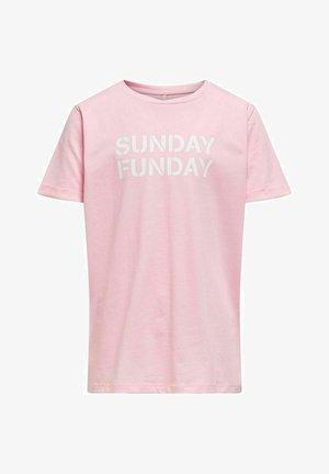 Print T-shirt - rose shadow
