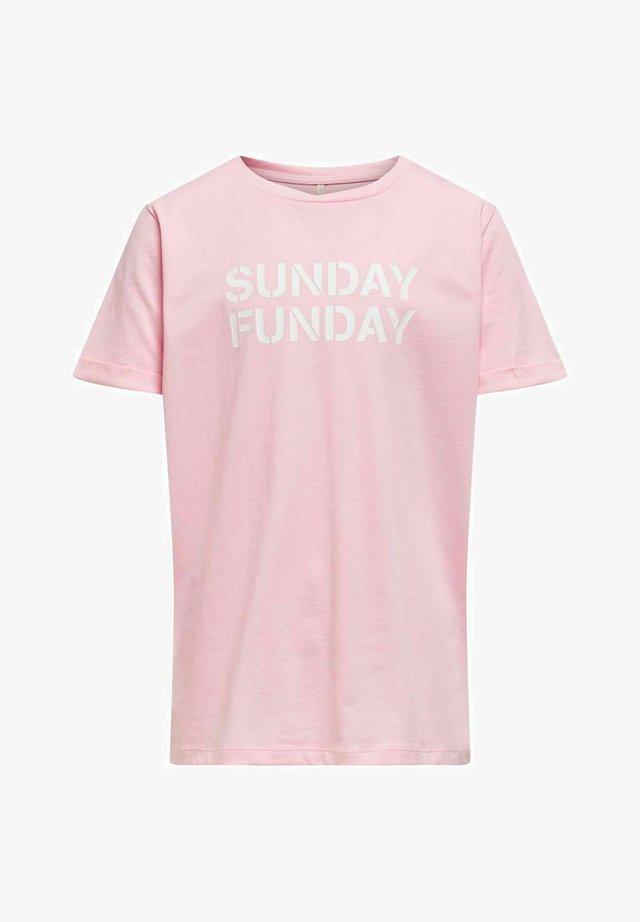 T-shirt med print - rose shadow
