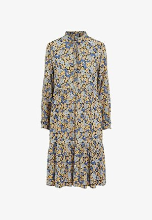 BLUMENPRINT - Shirt dress - maritime blue