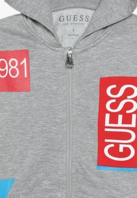 Guess - TODDLER HOODED ACTIVE ZIP - Zip-up hoodie - light heather grey - 4