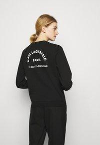 KARL LAGERFELD - ADDRESS LOGO - Sweatshirt - black - 2